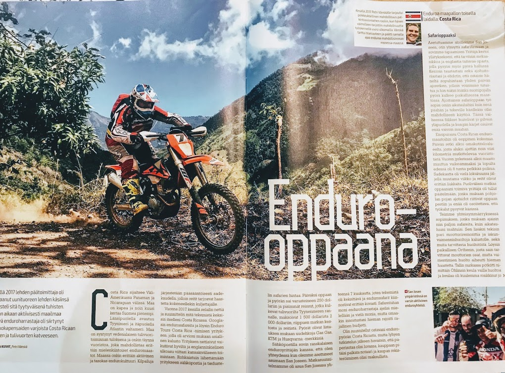 Enduro-Opaana - Aventure Tour du Costa Rica - Enduro Tours